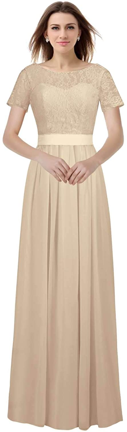 Champagne VaniaDress Women A Line Long Prom Evening Dress Bridesmaid Gowns V230LF