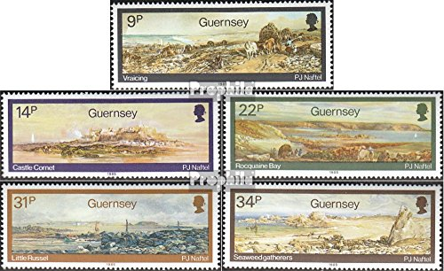 1985 Landscapes - United Kingdom - Guernsey 335-339 (Complete.Issue.) 1985 Landscape Paintings (Stamps for Collectors) Painting