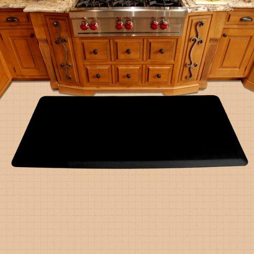 WellnessMats Original Anti-Fatigue 72 Inch by 36 Inch Kitchen Mat, Black