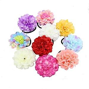 HOPEANT 10 PCS Floral Hand Wrist Corsage Peony Bracelets Hand Flower Head Flower Party Prom Decor 107