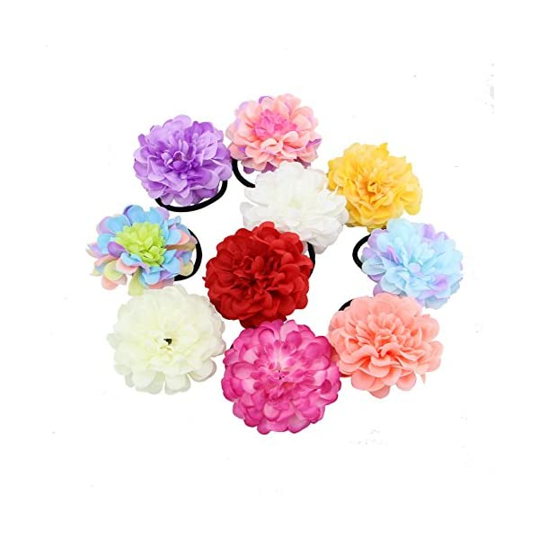 HOPEANT 10 PCS Floral Hand Wrist Corsage Peony Bracelets Hand Flower Head Flower Party Prom Decor