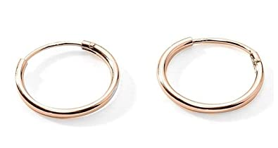 premium flash gold flashed sterling silver small endless hoop