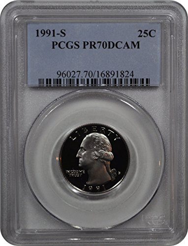 1991 S Washington Washington Quarter DCAM PCGS PR-70