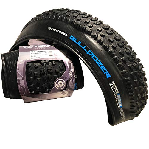 - Vee Tire Bulldozer Fat Road Tire with Folding Bead Silica Compound Tubeless Tire - (26x4.25), (120mm-559mm), (Set of 2)