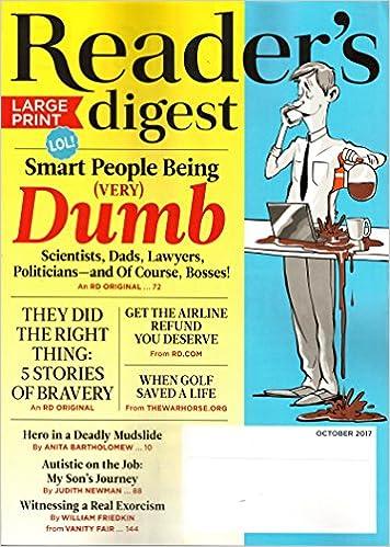 reader's digest large print magazine october 2017 | smart people ...