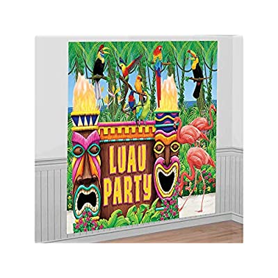 Amscan Luau Party Giant Wall Decorating Kit: Kitchen & Dining