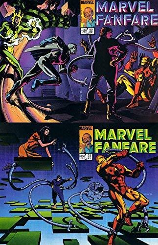 Marvel Fanfare #22-23 (1982-1991) Limited Series Marvel Comics - 2 Comics
