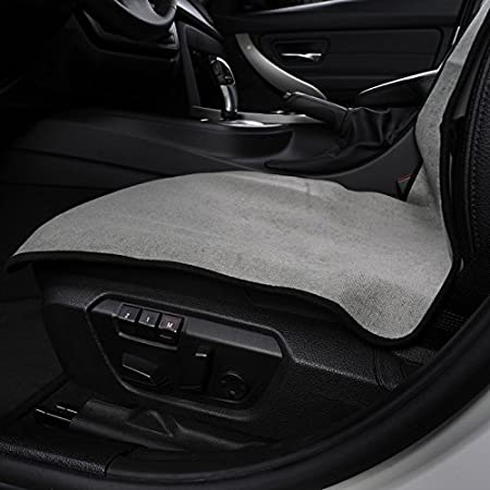 1PC Gym Beach Microfiber Auto Seat Protector Quick-Dry AUTOYOUTH Car Seat Cover Yoga Sweat Towel Seat Mat for Fitness Crossfit Workout Running Gray