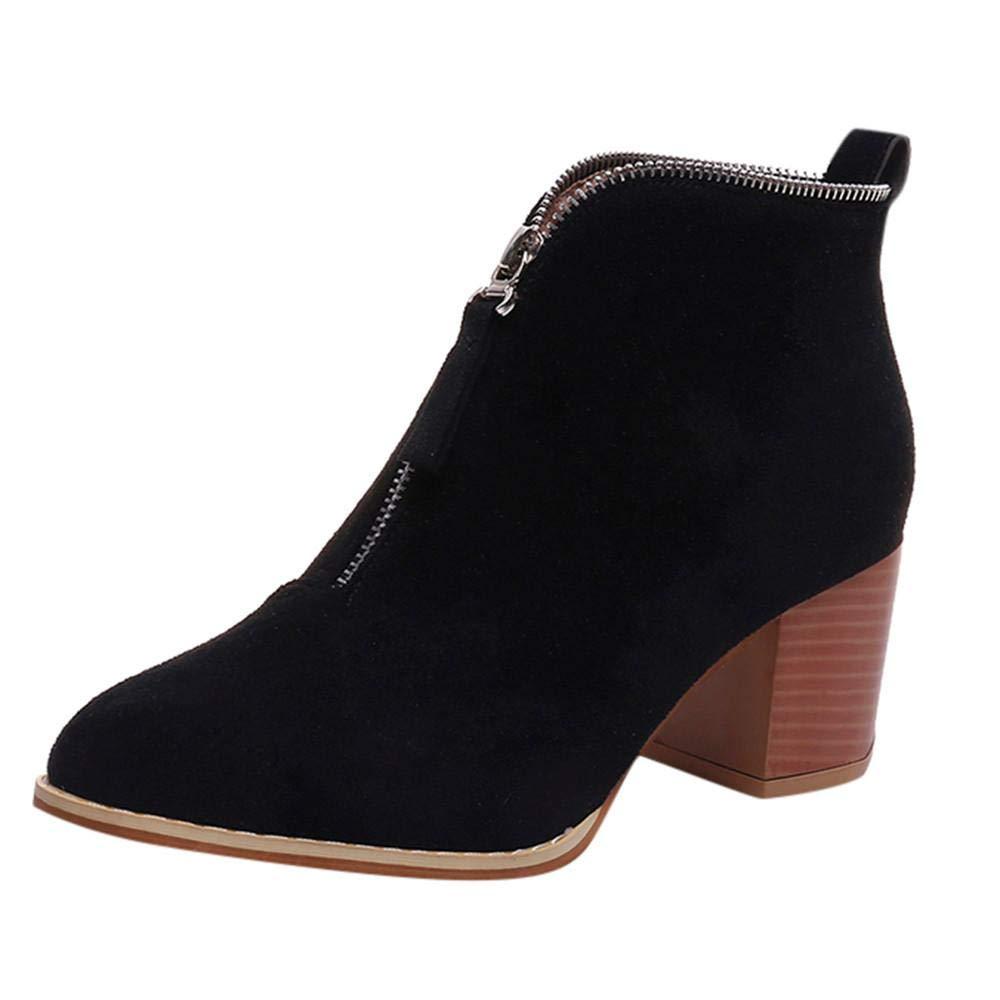 Logobeing Tacones Mujer Plataforma Zapatos Botines de Tacon Mujer Invierno Cómodo Altas Boots Moda 2018 Botas Altos Cuña Zapatos de Tacón Mujer(35,Beige)