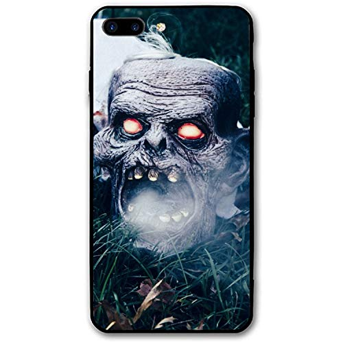 Halloween Mask Scary Grass Printed iPhone 7/8 Plus Cover Anti-Fingerprint Hard PC Compatible for iPhone 7/8 Plus Case 5.5