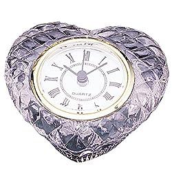 Heart Shape Office Desk Crystal Clock