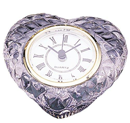 Heart Shape Office Desk Crystal Clock - Heart Desk Clock