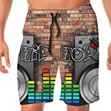 Men's Swim Trunks Hip Hop Music Quick Dry Beachwear Sports Running Summer Beach Board Shorts Vacation Surfing Bathing Suit