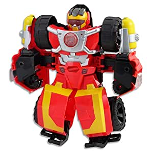 """Playskool Heroes - 10"""" Transformers Hot Shot Rescue Bot - Offroad Vehicle - with Lights & Sounds - Kids Action Figure - Ages 3+"""