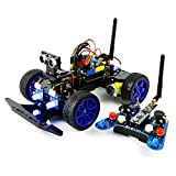 remote control arduino - Adeept Smart Car Kit for Arduino, Remote Control Car based on NRF24L01 2.4G Wireless, Robot Starter Kit, Arduino Robotics Model, Arduino Learning Kit with PDF Guidebook/Tutorial