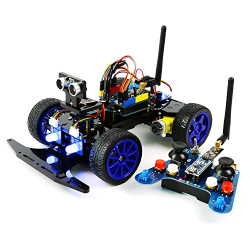 Adeept Smart Car Kit for Arduino, Remote Control Car based on NRF24L01 2.4G Wireless, Robot Starter Kit, Arduino Robotics Model, Arduino Learning Kit with PDF Guidebook/Tutorial ()