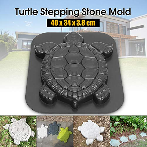 Turtle Butterfly Paving Mould, Stepping Stone Mold Concrete Cement Mould ABS Tortoise Butterfly Path Adds Sense of Fun and Art (Turtle) (Plastic Stepping Stone Mold Abs)