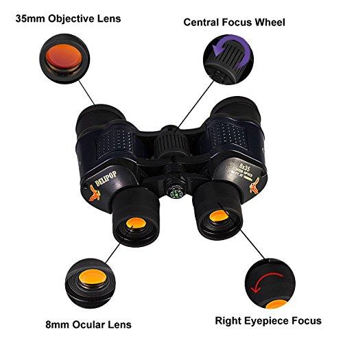 [해외]성인용 쌍안경 8x35 시야 3000M Night Vision 소형 쌍안경 (조류 관찰 용 사냥 캠핑)/Binoculars for Adults 8x35 Field of View 3000M Night Vision Compact Binocular with Case for Bird Watching Hunting Camping