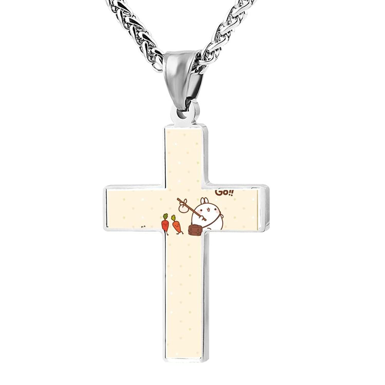 Wine Jianxian Cross Pendant Carrot Rabbit Zinc Alloy Necklace Ornaments Forwoman