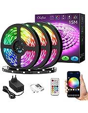 Olafus 15M Tira LED Alexa WiFi, 450 LEDs 5050, Strip Lights RGB Luces Colores LED Google Assistant, Modo y Brillo Ajustable, Compatible con Aplicación iOS y Android, Control Remoto