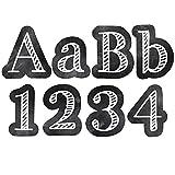 "Creative Teaching Press Chalkboard 4"" Designer Letters, Black/White (0279)"