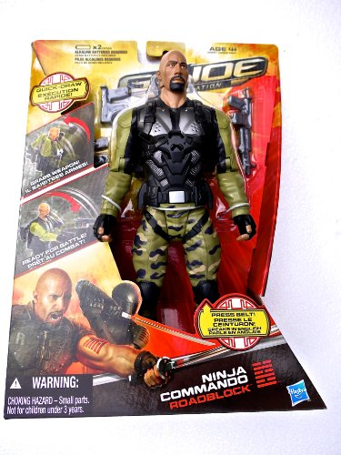 G.I. Joe Retaliation - Ninja Commando Roadblock with Weapon Accessories and Sound - Speaks English (2011)