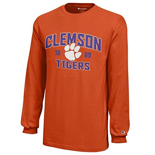 Football Jerseys Clemson - NCAA Champion Boy's Long Sleeve Jersey T-Shirt Clemson Tigers Small