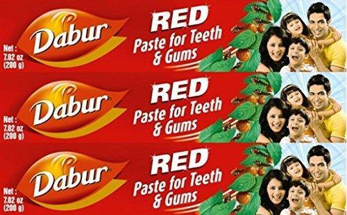Dabur Herbal Toothpaste Red Ml X 3 Packs 100