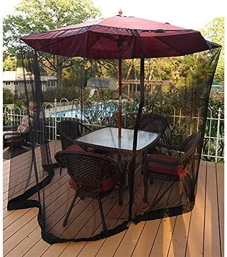 日傘用蚊帳、屋外ガーデン蚊カバー、パティオ傘カバーパティオテーブル傘用蚊帳スクリーンパラソルoガゼボ用ジッパー式メッシュエンクロージャ