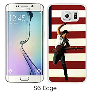 Fashionable Custom Designed Cover Case For Samsung Galaxy S6 Edge With Bruce Springsteen White Phone Case