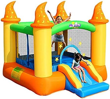 Tobogán inflable Para Niños Juguetes para Niños Castillo Inflable Al Aire Libre del Parque De Diversiones Trampolín para Niños De Jardín De Infantes Trampolín Inflable (Size : 236x279x213cm): Amazon.es: Deportes y aire