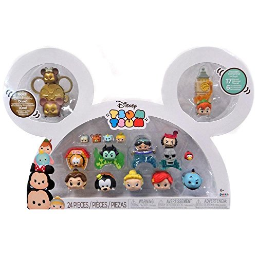 Disney tsum tsum 17 figure box set peter pan belle genie ariel cinderella pluto goofy jasmine jack sparrow -