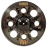 Meinl Cymbals 16'' Trash Crash Cymbal with Holes - Classics Custom Dark - MADE IN GERMANY, 2-YEAR WARRANTY (CC16DATRC)