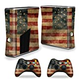 MightySkins Skin For X-Box 360 Xbox 360 S console - Vintage Flag | Protective, Durable, and Unique Vinyl Decal wrap cover | Easy To Apply, Remove, and Change Styles | Made in the USA