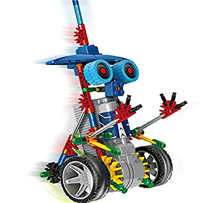 Alien Toys for Kids / Robotic Building Set / Battery Powered Robotic Kits / 3d Puzzles for Kids , 122 Parts(knight)