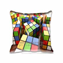 Cube Close Up Personalized New Throw Pillow Covers - Cool Design Cotton Sofa Pillow Cases for Couples , Customized Cushion Cover