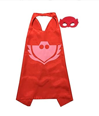Rush Dance Kids Childrens Deluxe Comics Super Hero CAPE & Matching MASK Costume (Amaya/