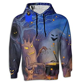 Fri Happy Halloween Men's Novelty Black Long Sleeve Hoodie Underground For Jogger Tops Shirt Coat