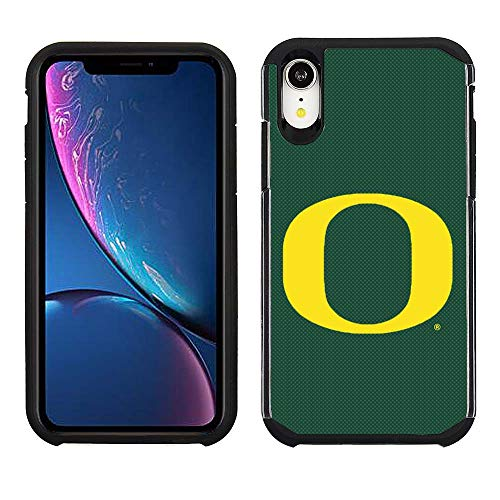 Prime Brands Group Cell Phone Case for Apple iPhone XR - Green/Black - NCAA Licensed Case for Oregon Ducks