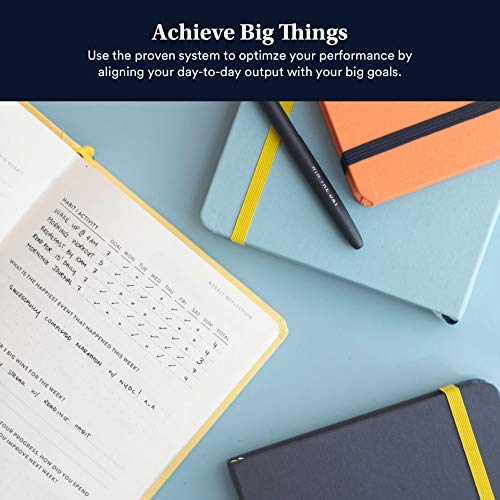 BestSelf Co. The SELF Journal - 2019 Planner and Appointment Notebook - Achieve Goals - Increase Productivity and Happiness - Undated Hardcover- Charcoal by BestSelf Co. (Image #1)