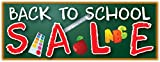 Back To School Sale Banner Big Discount Savings Sign 48x120