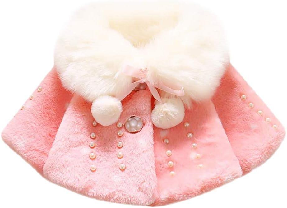 Baby Infant Boy Girl Fall Winter Faux Fur Coat Coat Jacket Thick Warm Clothing Toddler Short Sleeve T-Shirt Pr