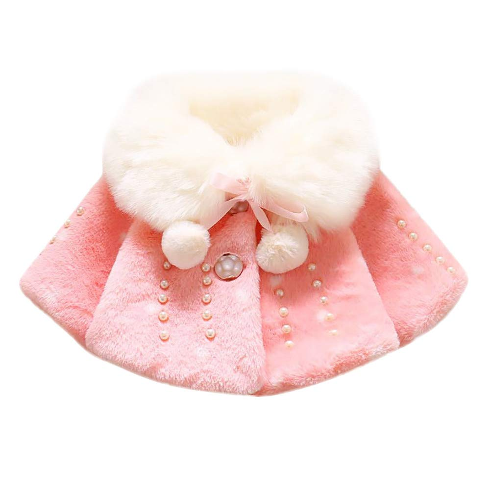 SMALLE ◕‿◕ Clearance,Baby Infant Boy Girl Autumn Winter Faux Fur Coat Cloak Jacket Thick Warm Clothes