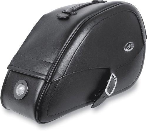 Saddlemen Rigid-Mount Specific-Fit Tear-Drop Saddlebags with Integrated LED Marker Lights Drifter 3501-0465-LEB ()