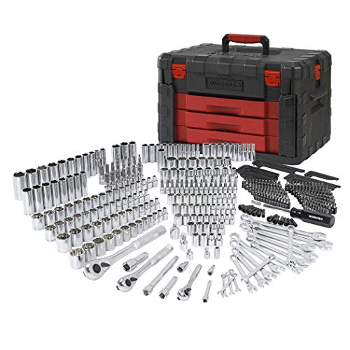 - WORKPRO 450-Piece Mechanics Tool Set, Universal Professional Tool Kit with Heavy Duty Case Box