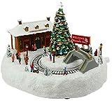 Animated Resin 5 Inch Christmas Musical Train Station