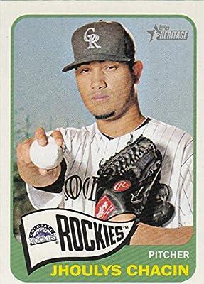 eec56234a5c Amazon.com  Baseball MLB 2014 Heritage  347 Jhoulys Chacin Rockies ...