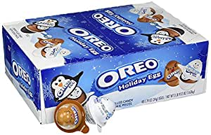 Oreo Holiday Chocolate Candy Egg with Creme and Cookie Pieces, 1.19 Ounce, 48 Count