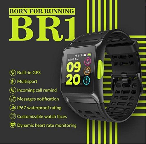 BISOZER BR1 GPS SPORTS Watch Smart Watch IP67 Waterproof Color Screen Multisport Wristwatch Men Women Fitness Watch Smartwatch by BISOZER (Image #1)