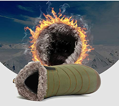 Invernale Invernale Pelliccia Stivali Scuro con in da Invernale Unisex Neve Fodera alla Stivale Caviglia Antiscivolo Grigio dxzn6qw1d0